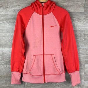 Nike Women's Two-Tone Orange Zip Hoodie